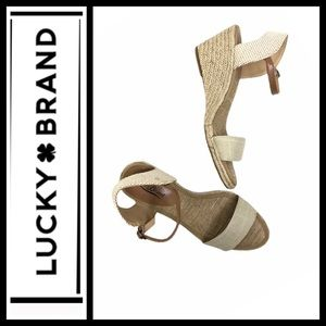 Lucky Brand Tan wedge Espadrilles